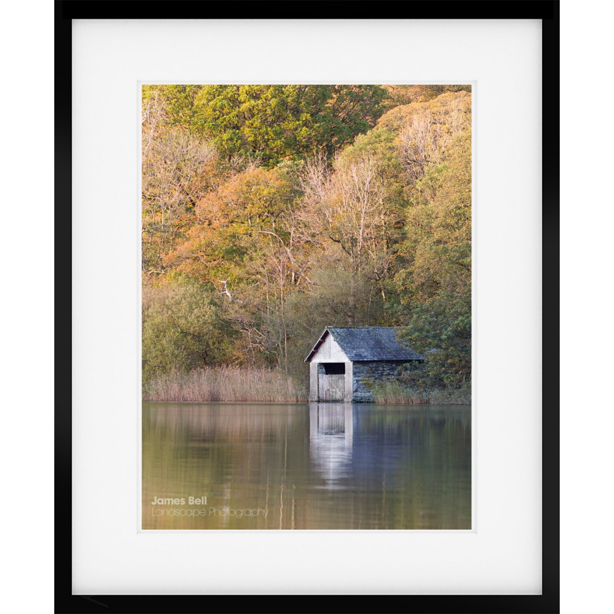 Rydal Water Boathouse Autumn framed print