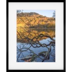 Rydal Water Boathouse Wide framed print