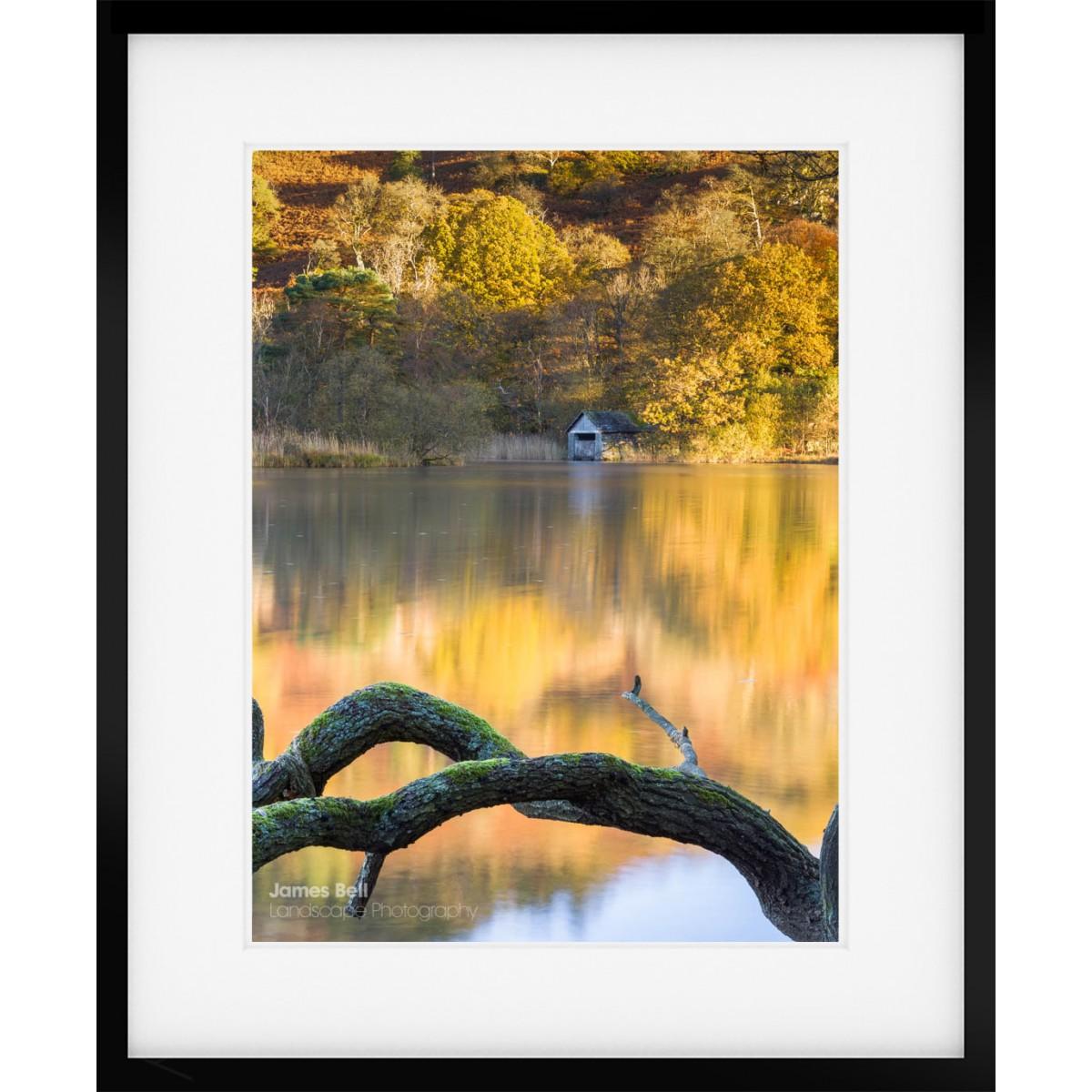 Rydal Water Boathouse Warm framed print