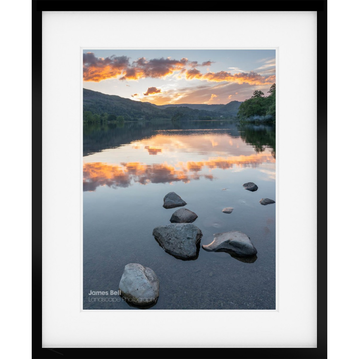 A Grasmere Sunset framed print