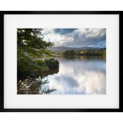 Rydal Water Last Light framed print
