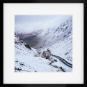 Honister Pass in snow framed print