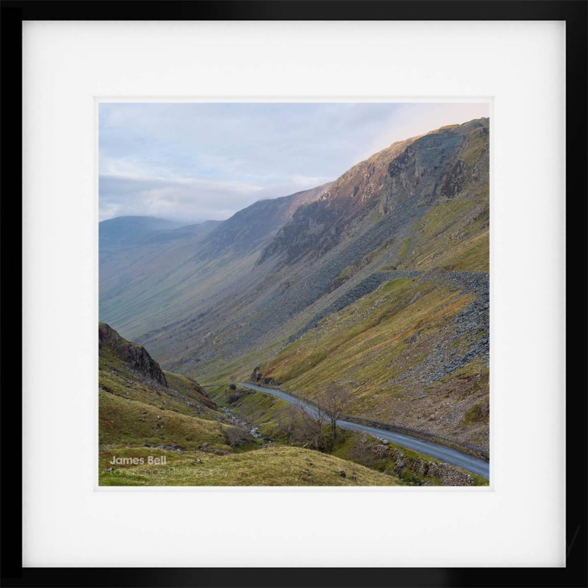 The Honister Pass framed print