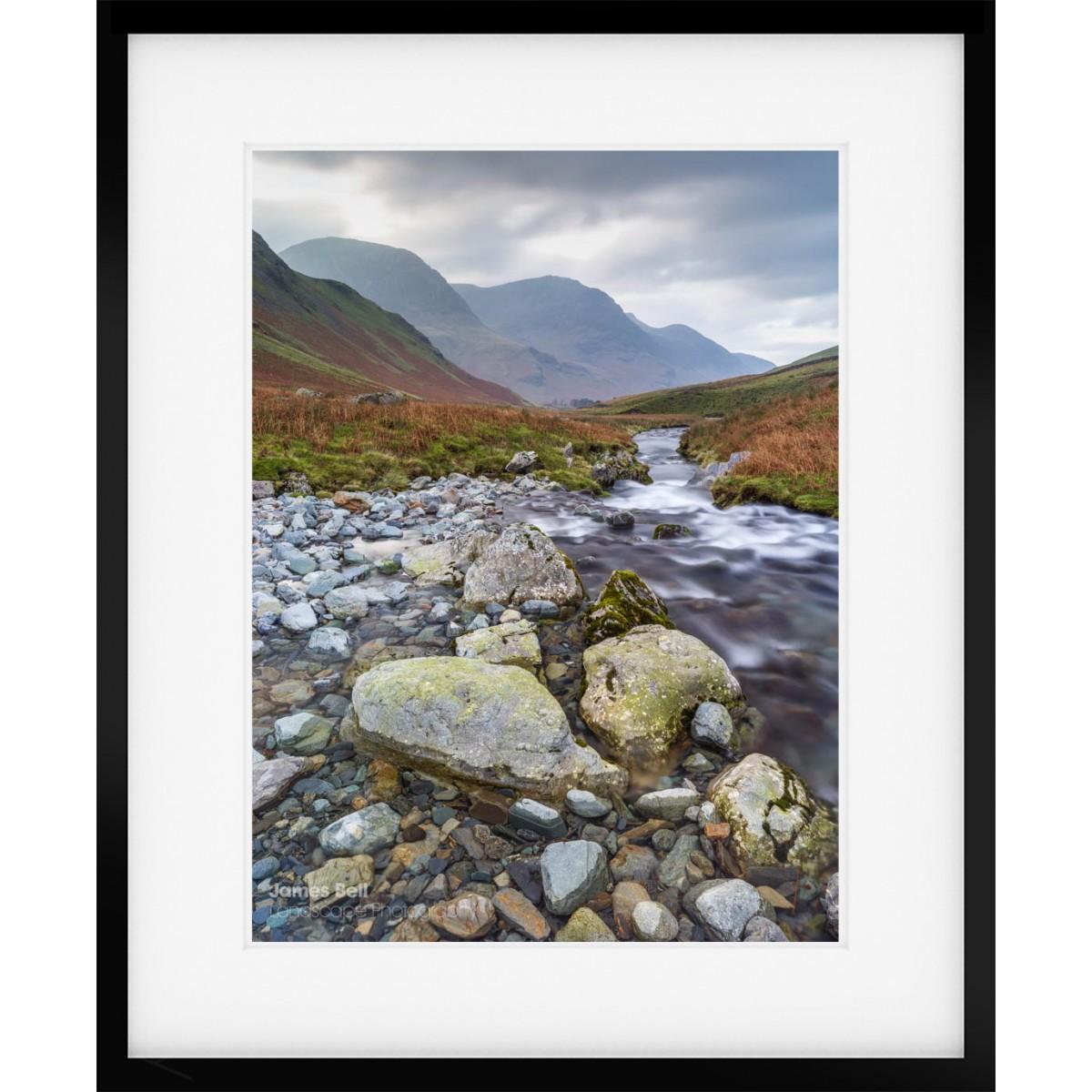 Honister Pass Stream framed print