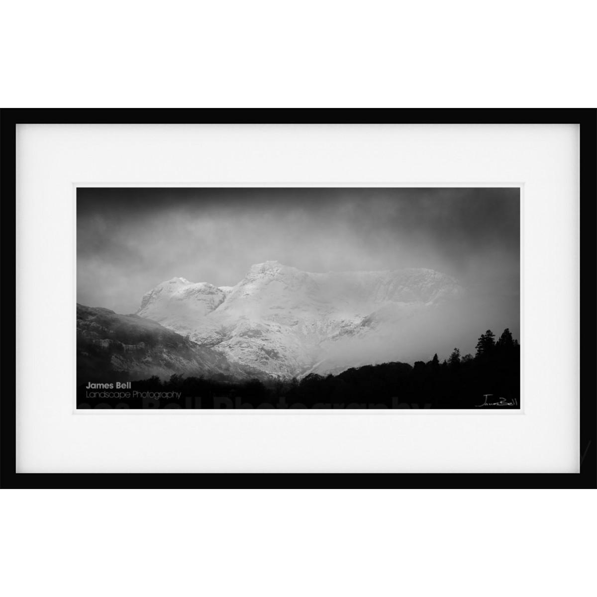 Langdale Pikes Winter framed print