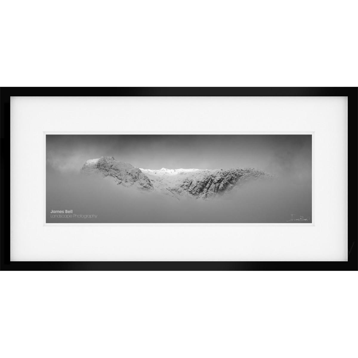 Langdale Pikes Winter II framed print