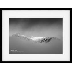 Langdale Pikes Winter III framed print