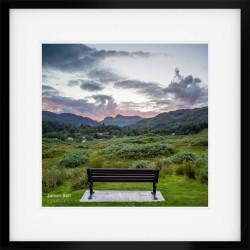 Rest with a view framed print