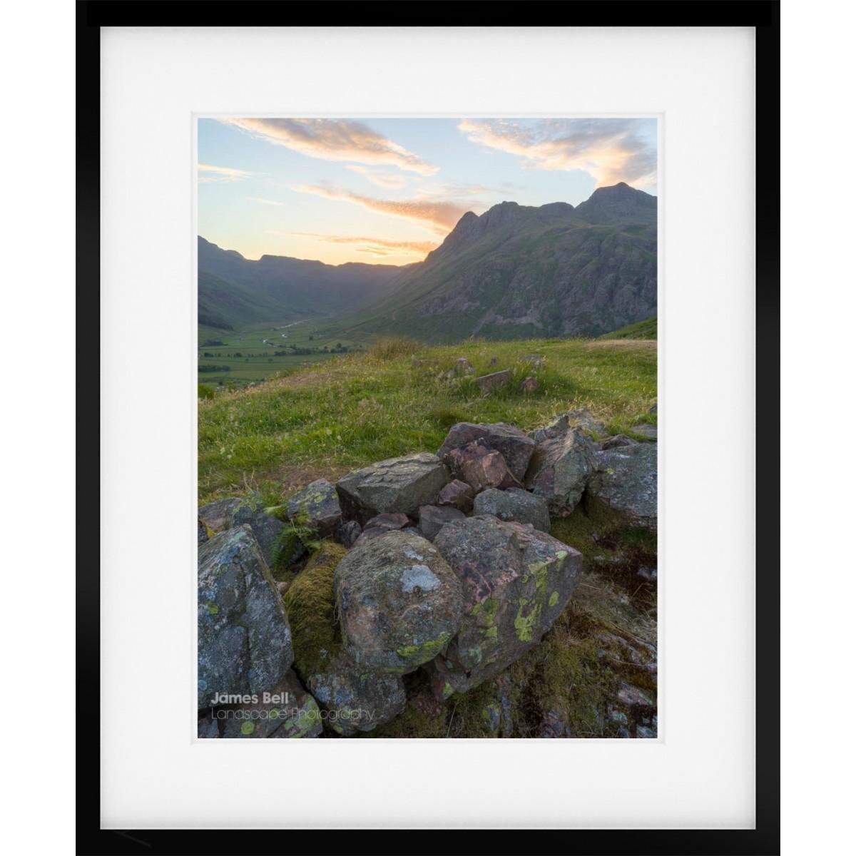 Langdale Sunset framed print