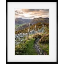 Lingmoor Fell Sunset framed print