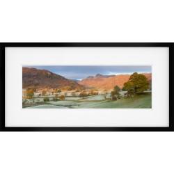 Langdale Boulders Dawn II framed print