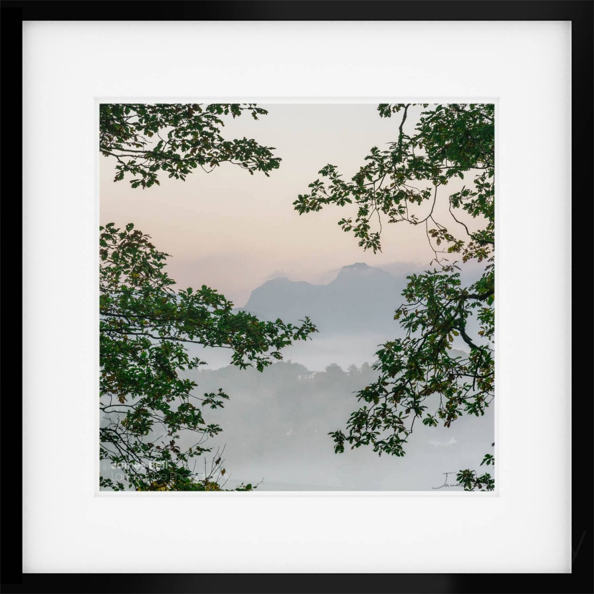 Langdale Misty Morning framed print