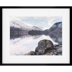 Thirlmere in winter framed print