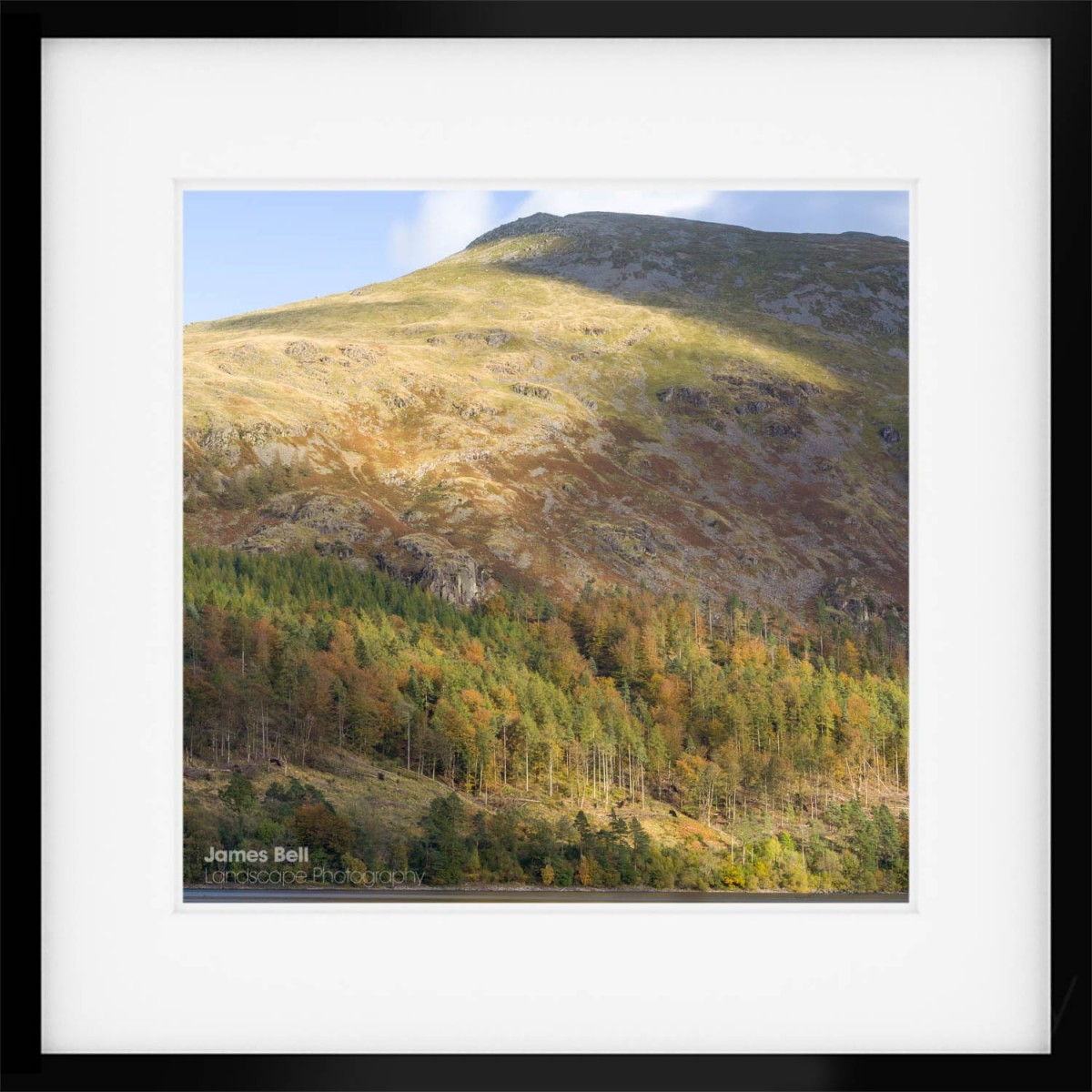 Over Thirlmere Autumn framed print