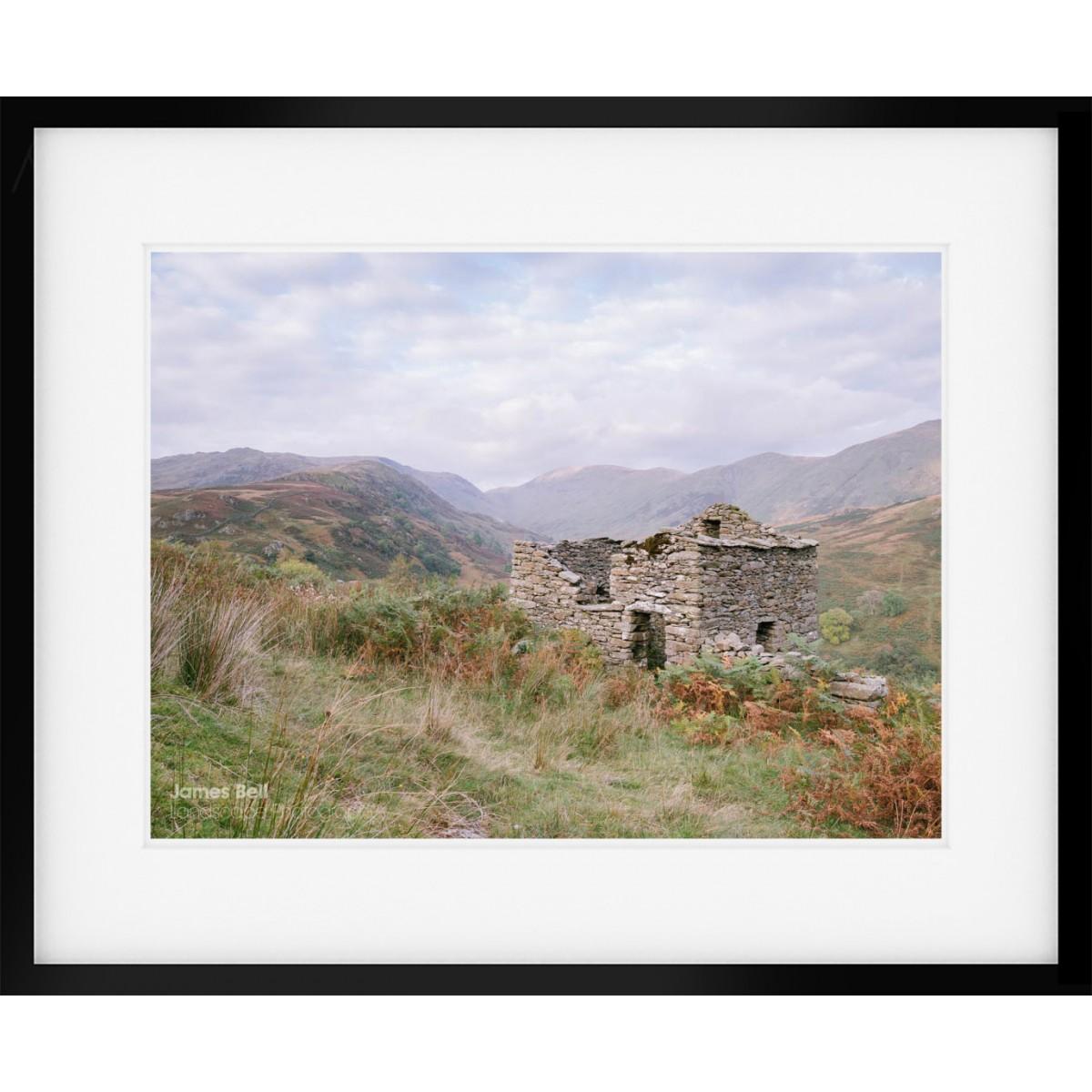 Grand Design Sheep Hut above Troutbeck framed print