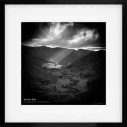Light in the Martindale Valley framed print