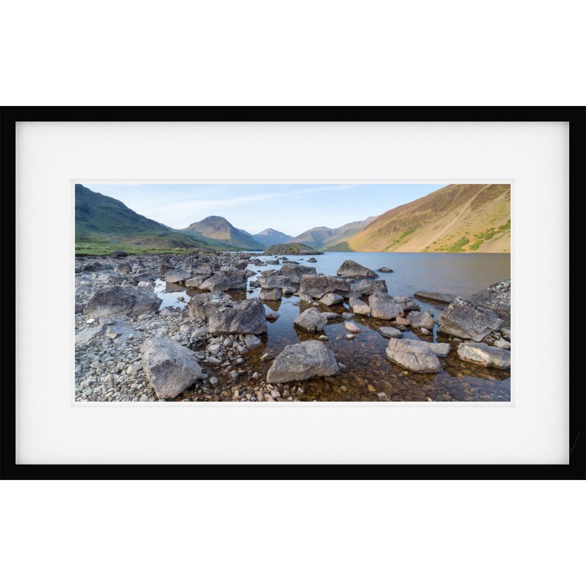 Wastwater Rocks wide framed print