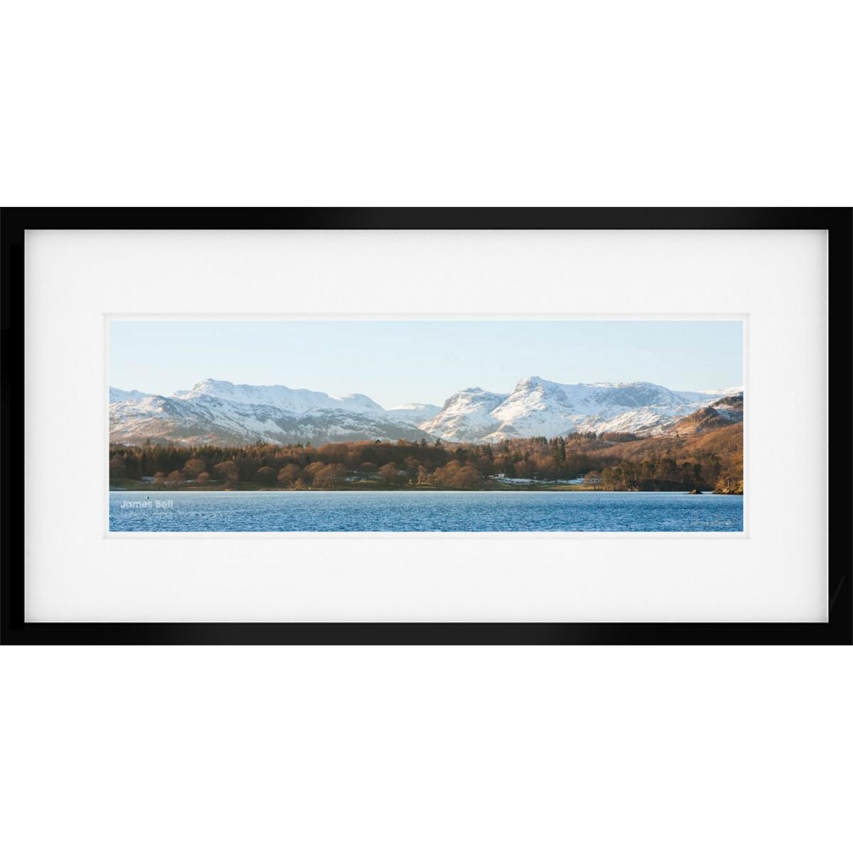 Windermere Panorama framed print