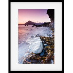 Elgol Beach Rock framed print
