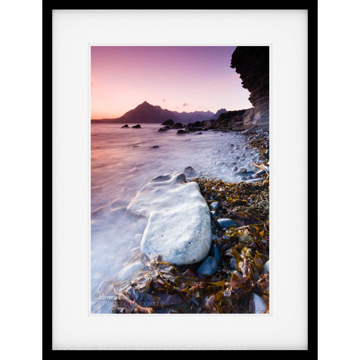 Elgol Beach Rock framed print