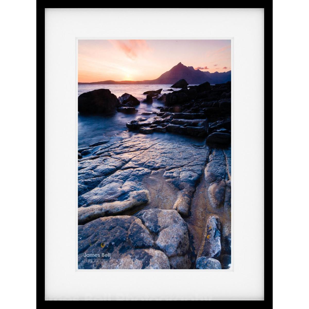 Elgol Beach Sunset framed print