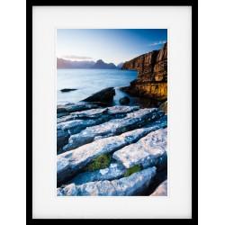 Elgol Boulder framed print