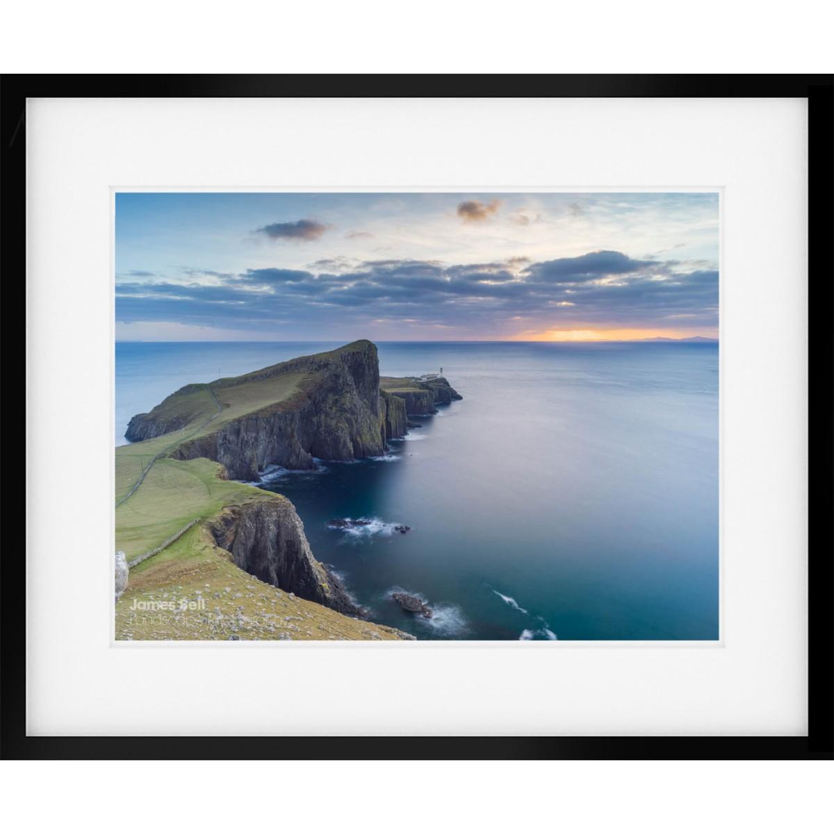 Neist Point Sunset framed print