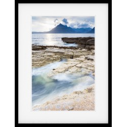 Elgol Splash framed print