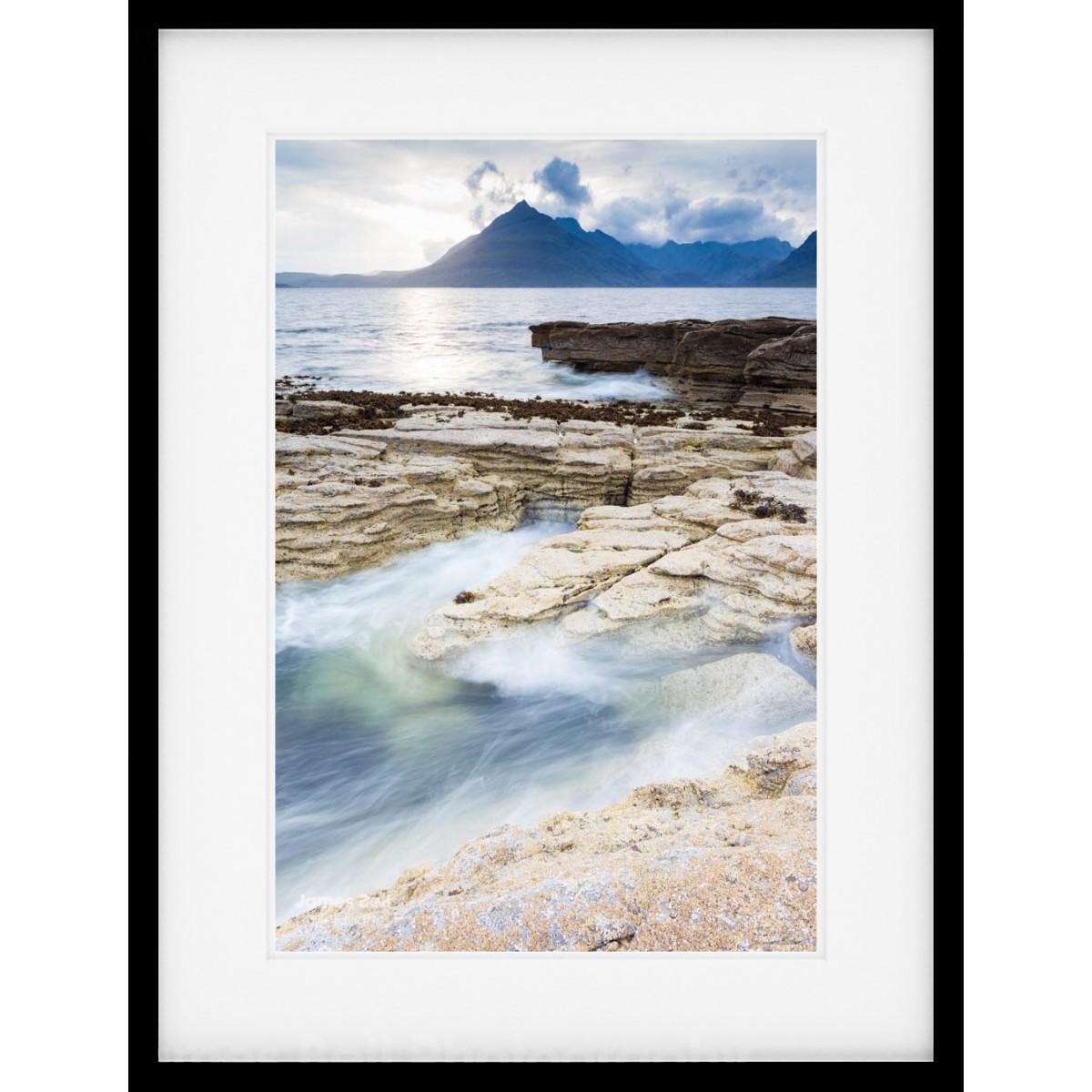 Elgol Splash framed print