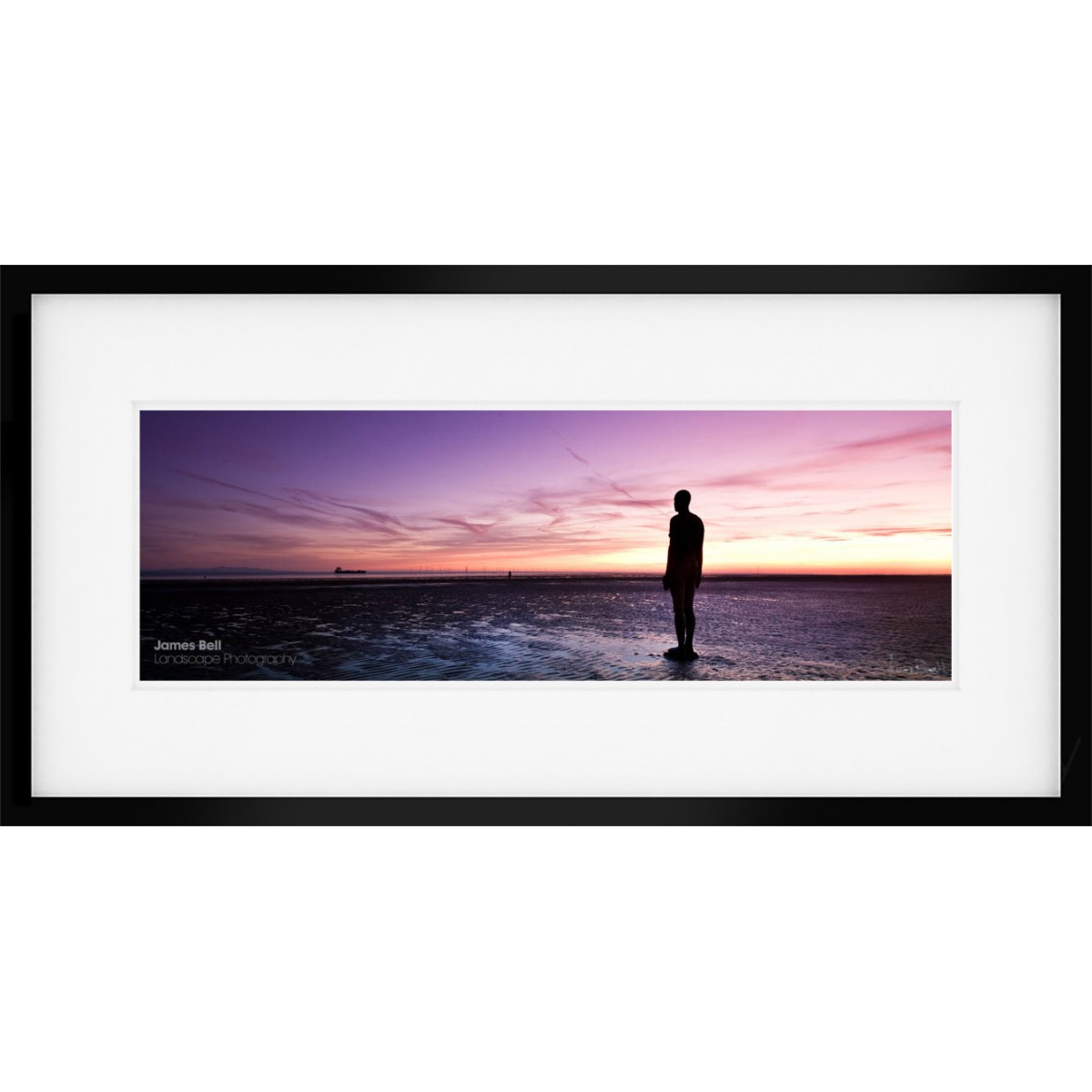 Another Place Wide framed print