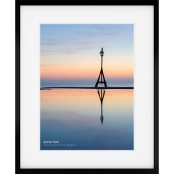 Crosby Beach Mile Marker framed print