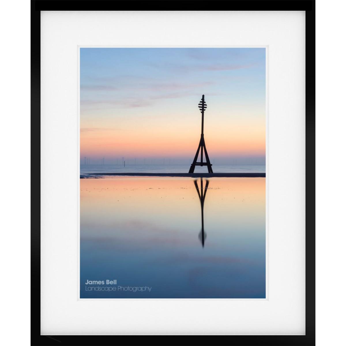 Crosby Beach Mile Marker framed print