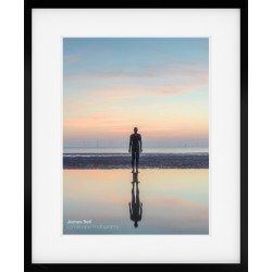 Sunset on Crosby Beach framed print