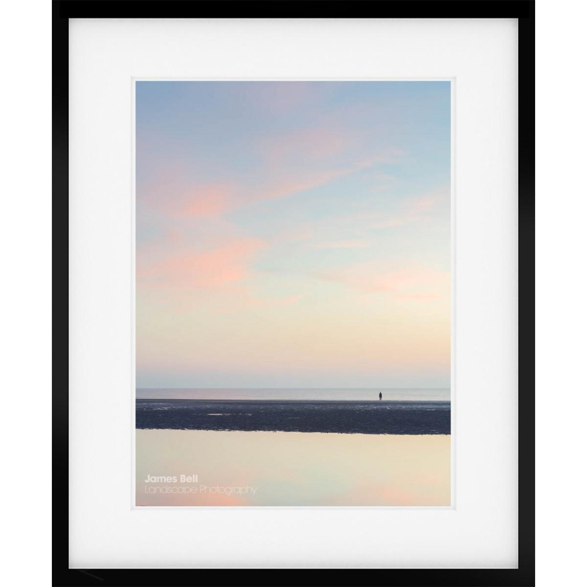 Sunset on Crosby Beach framed print