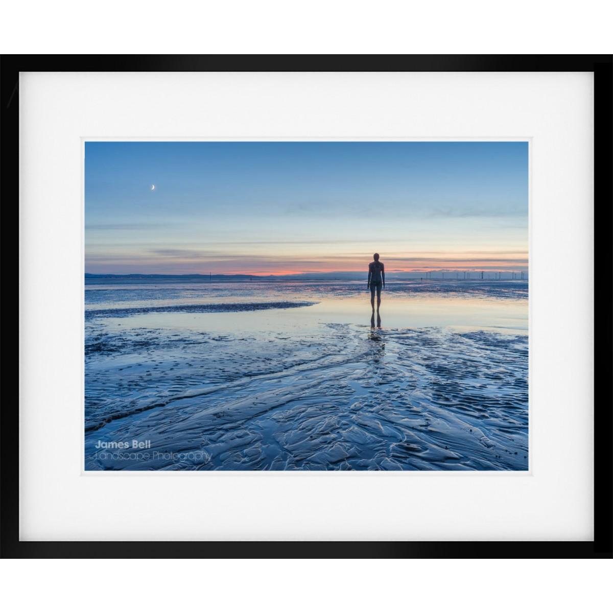 Crosby Beach Afterglow framed print