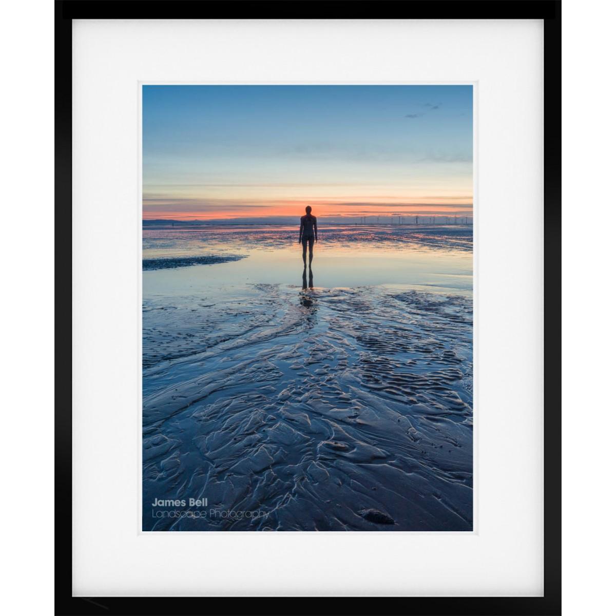 Crosby Beach Textures framed print