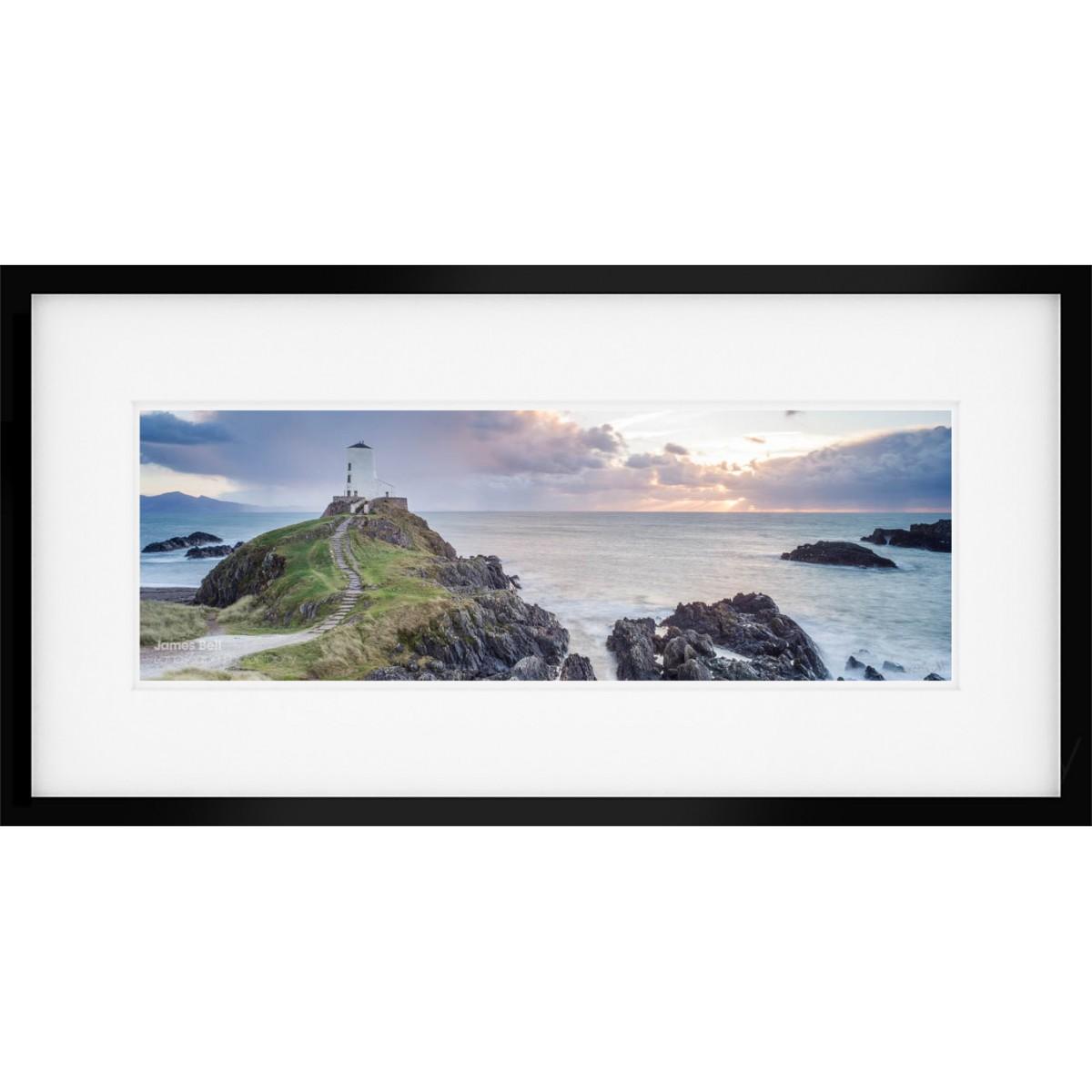 Llanddwyn Island Panorama framed print