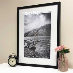 Dramatic Wastwater black and white framed print