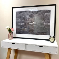 Rydal Reflections Mono framed print