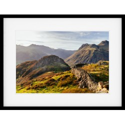 Side Pike in the Langdale Valley framed print