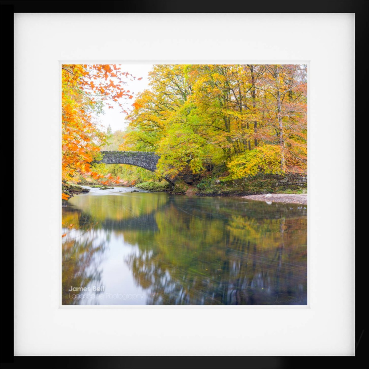 clappersgate bridge autumn framed print