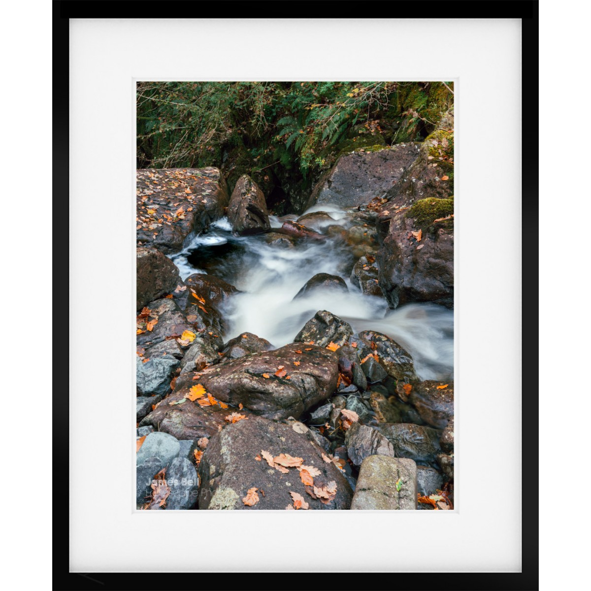 Launchy Gill into Thirlmere Framed Print