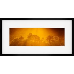 River Esk Autumn 75cm Print in a Satin Black Hardwood Frame