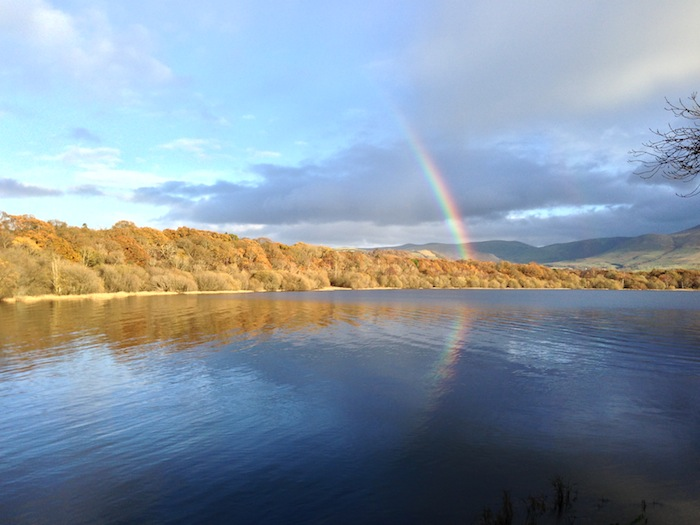 Rainbow over Bassenthwaite in the Lake District