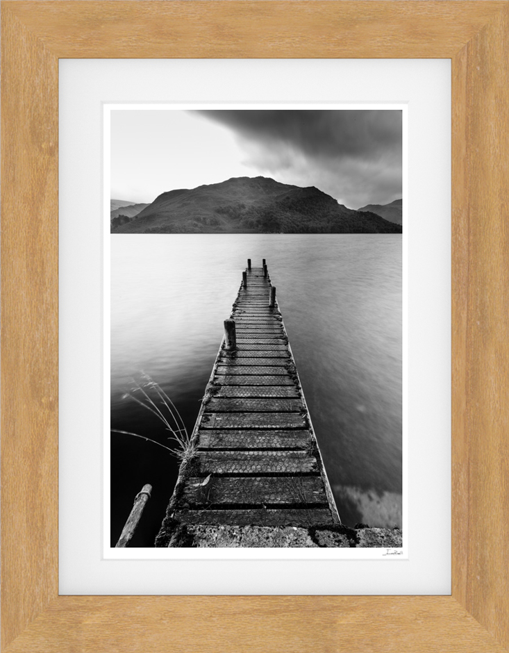 Black and White Ullswater print for sale