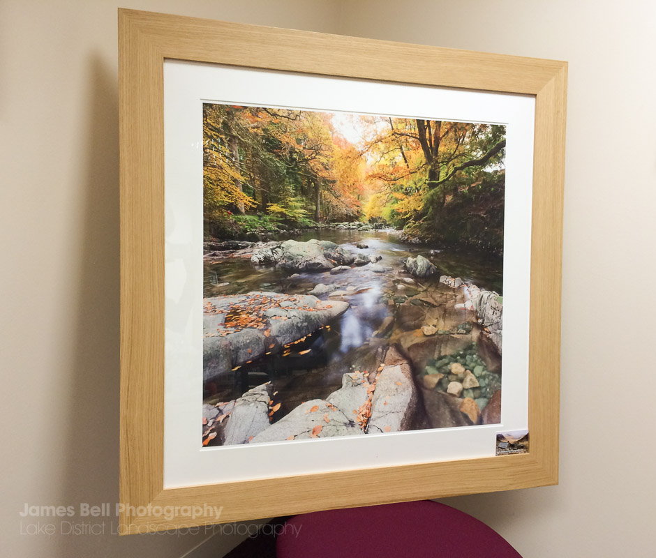 Oak Framed Eskdale River Print by James Bell 2