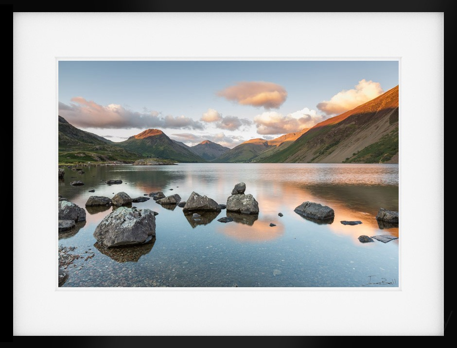 a summers evening on wastwater