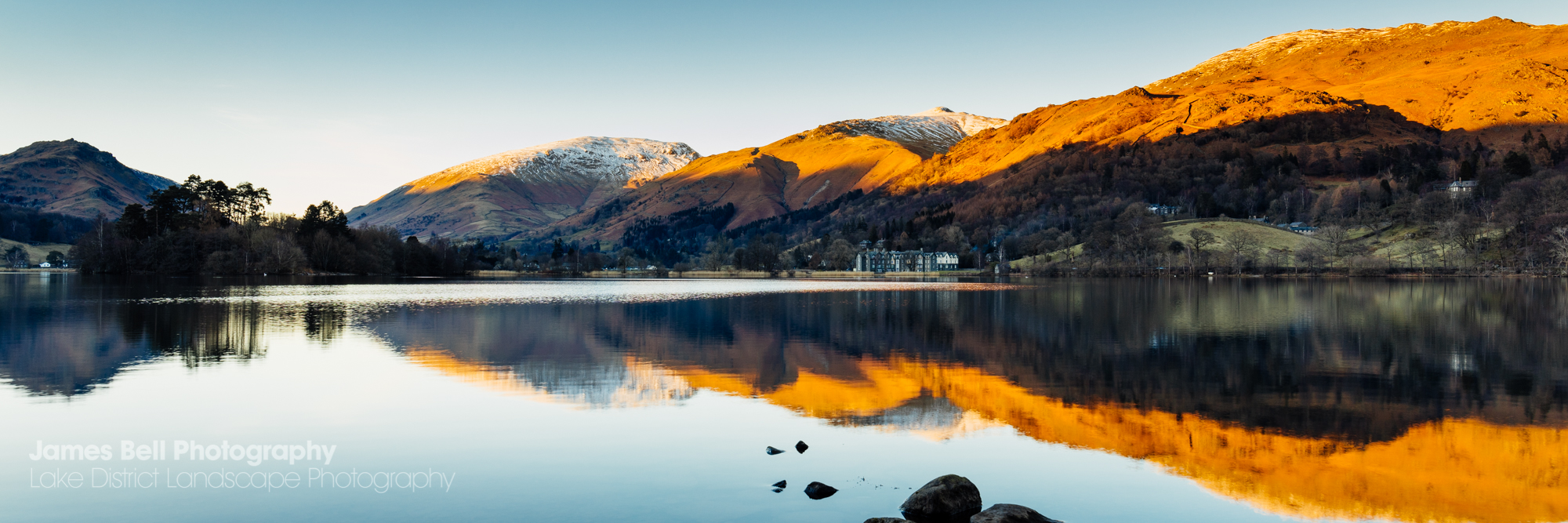 Beautiful evening light on Grasmere in the Lake District. (1)