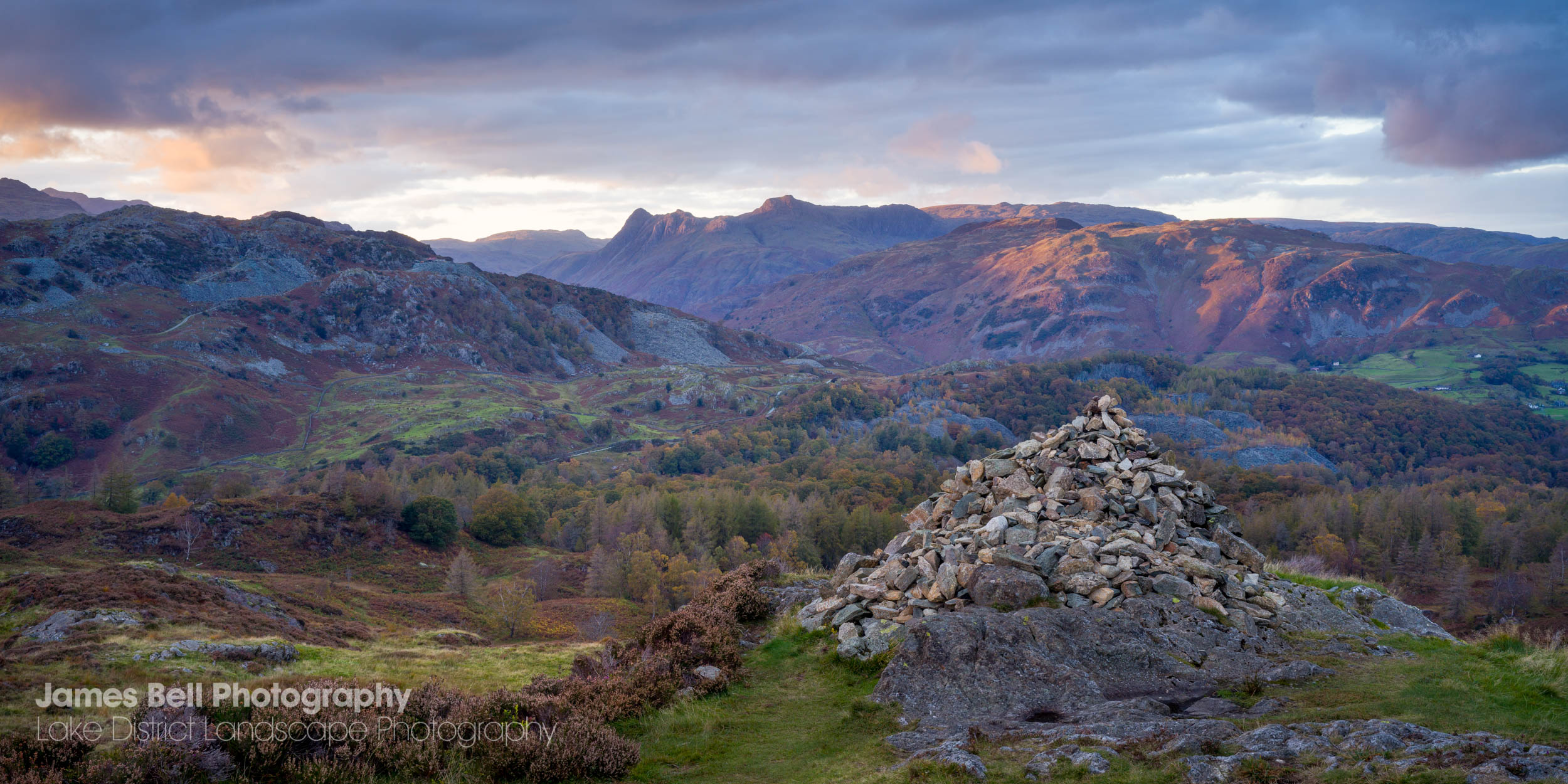 Autumn Sunset on Holme Fell in the Lake District