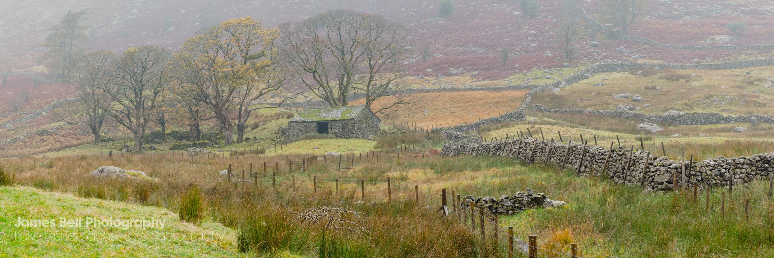 A Lake District Barn in Autumn